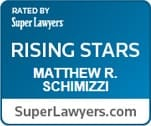 rated by super lawyers rising stars matthew r. schimizzi superlawyers.com
